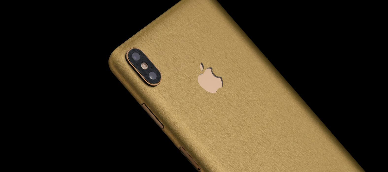 iPhone XS Brushed Gold Skins