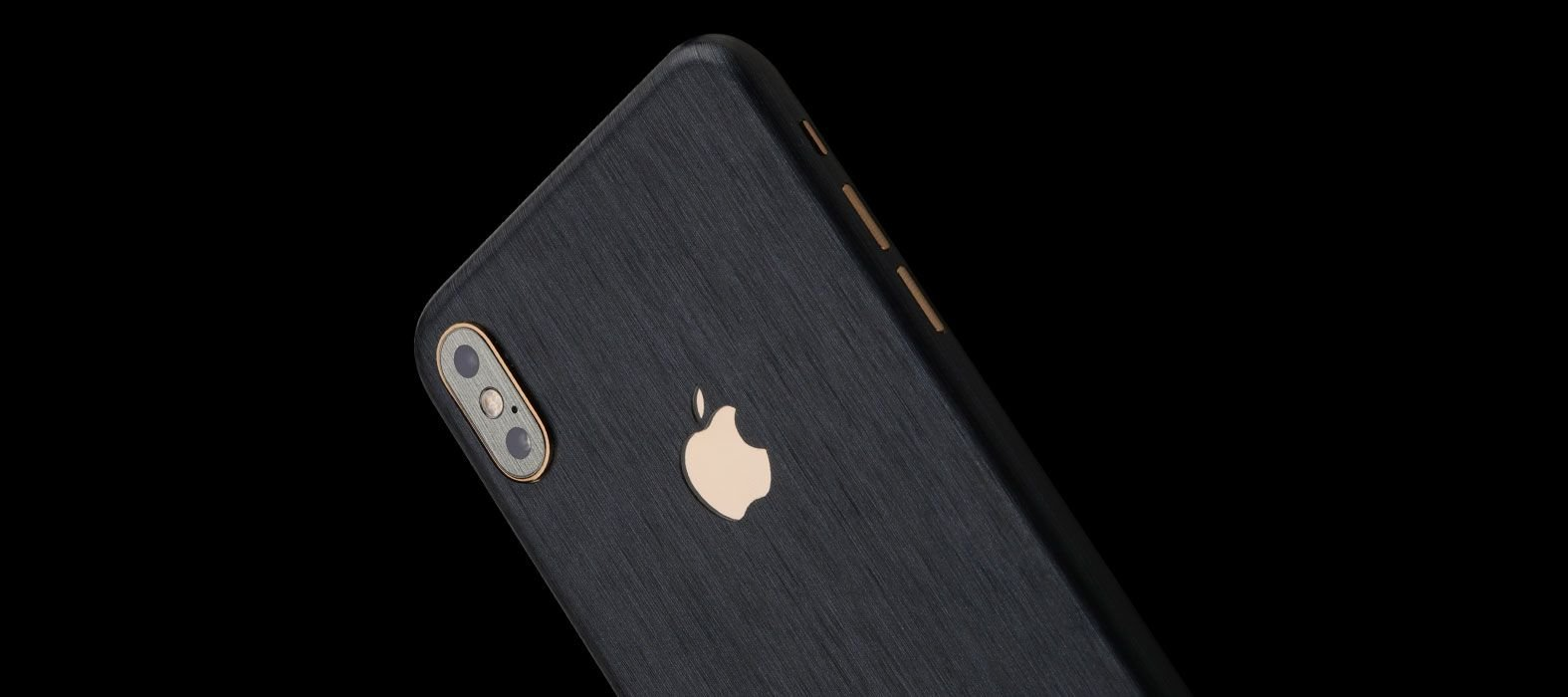 iPhone XS Brushed Graphite Skins