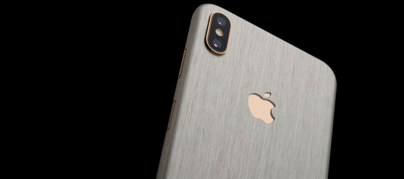 iPhone XS Brushed Titanium Skins