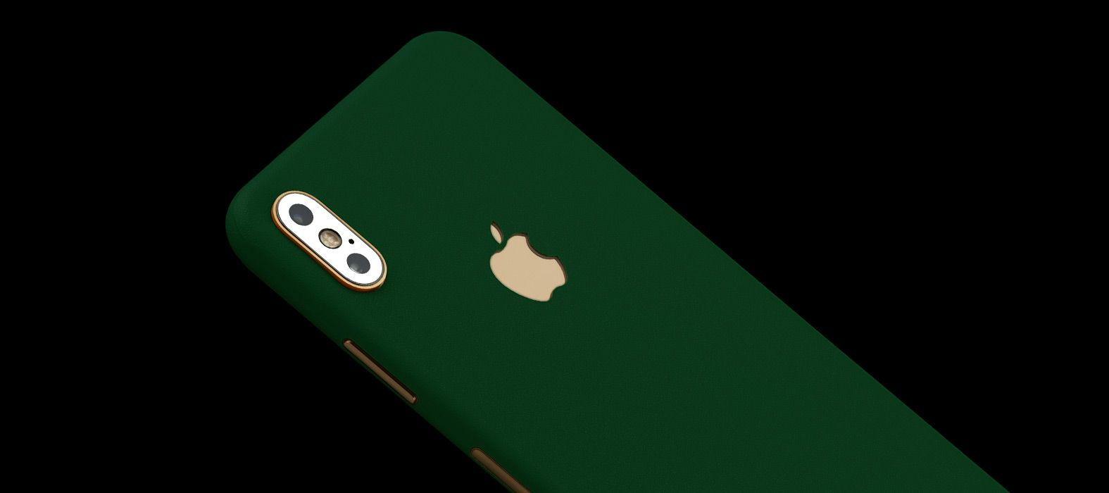 iPhone XS Green Sandstone Skins