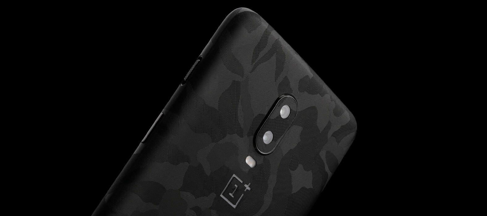 OnePlus 6T Black Camo Skins