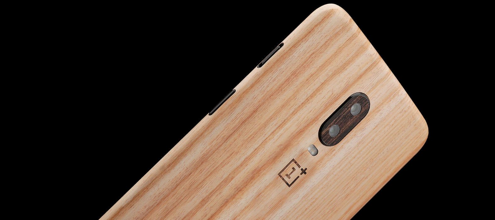 OnePlus 6T Bamboo Wood Skins