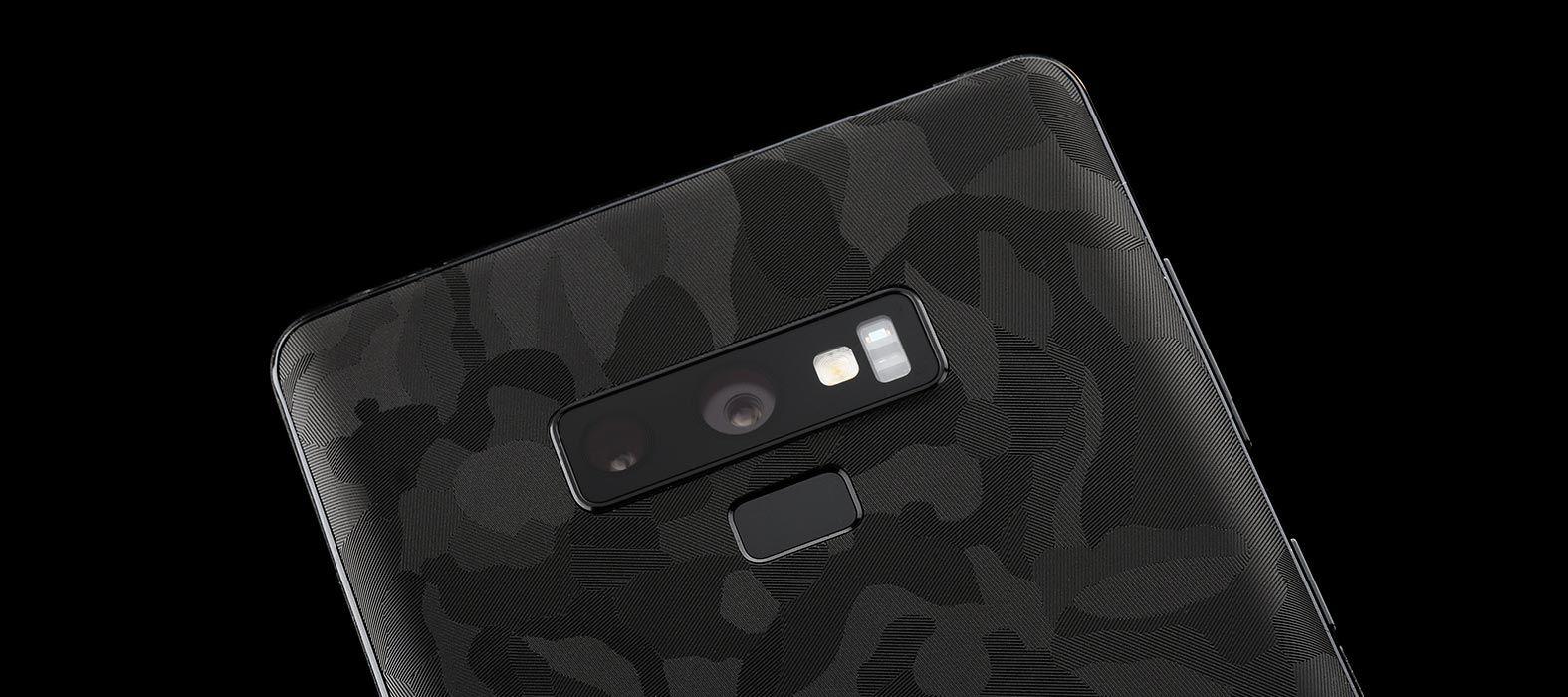 Galaxy Note 9 Black Camo Skins