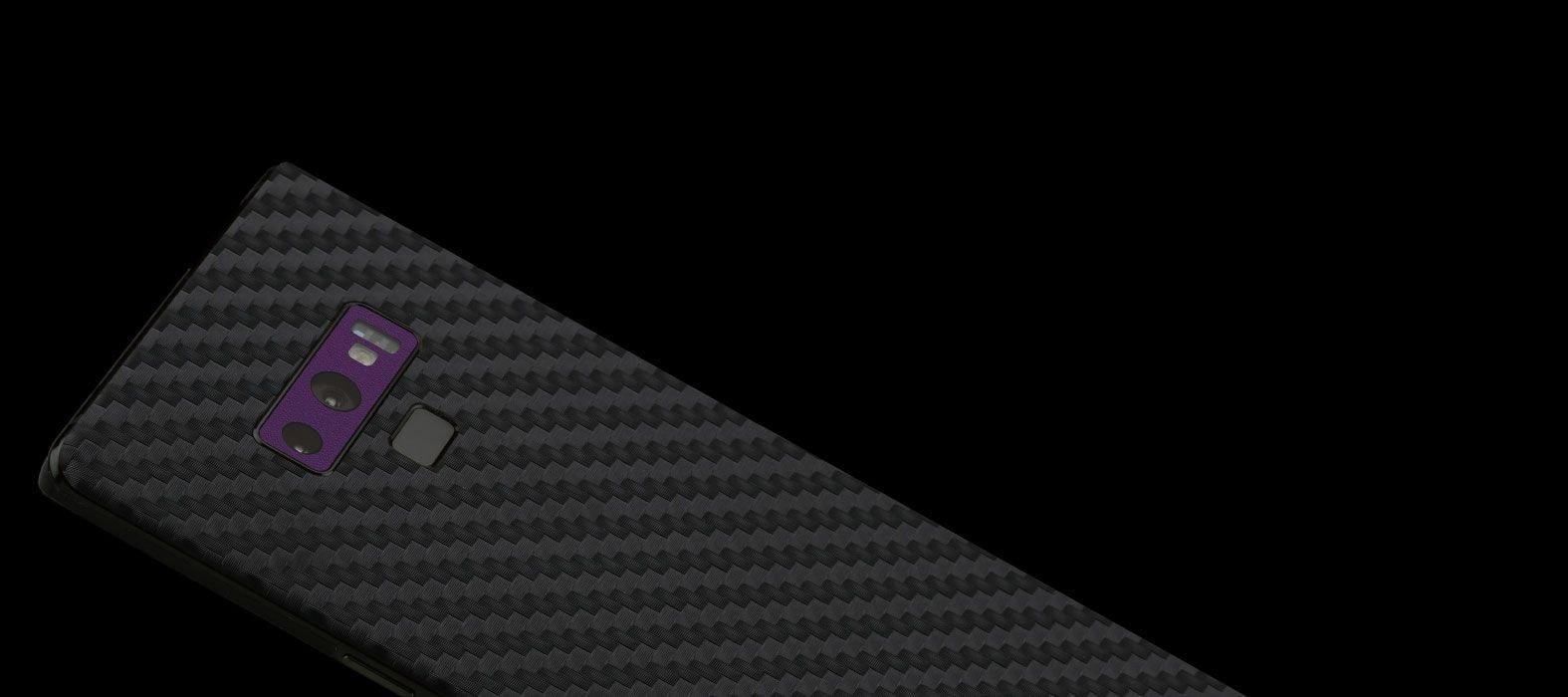 Galaxy Note 9 Black Carbon Fiber Skins