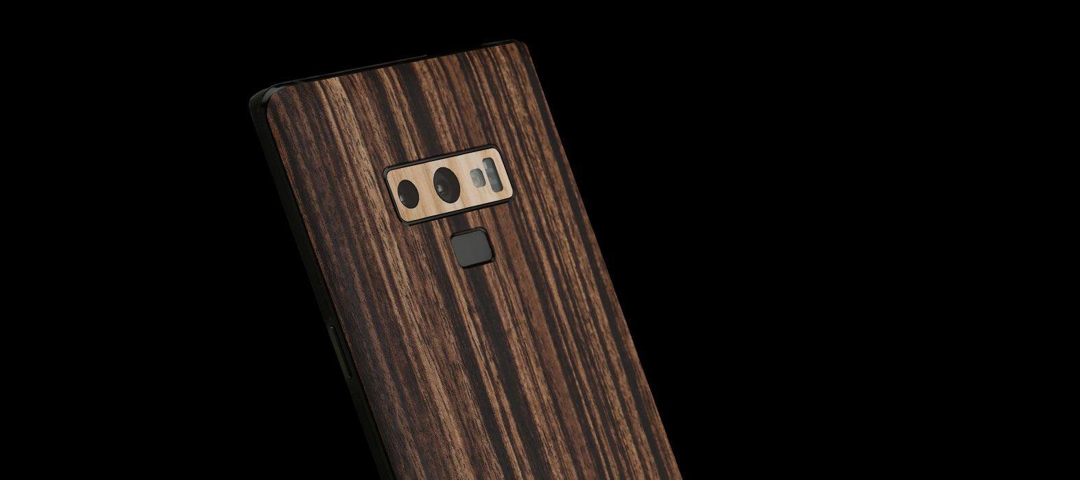 Galaxy Note 9 Zebra Wood Skins