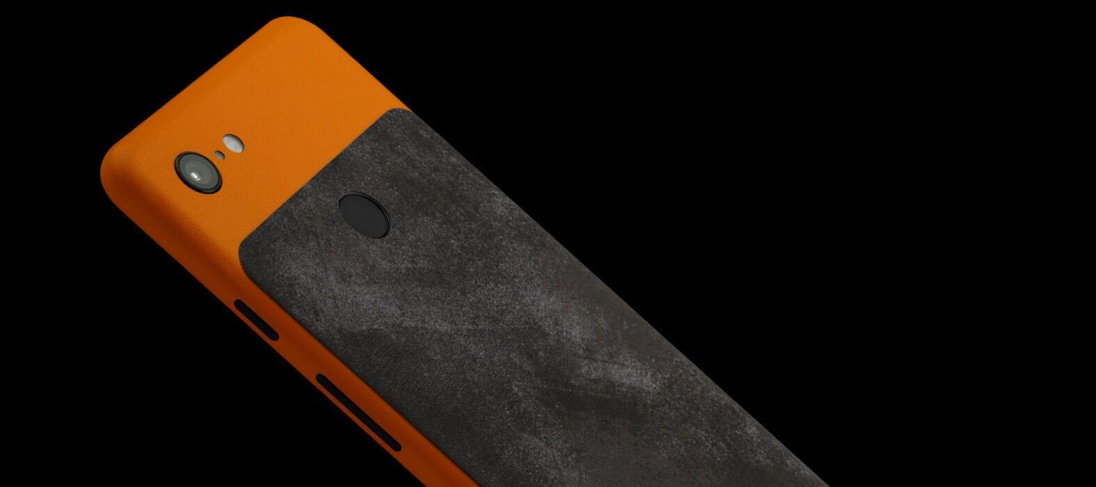 Pixel-3-XL_Orange-Sandstone-With-Grunge_Skins
