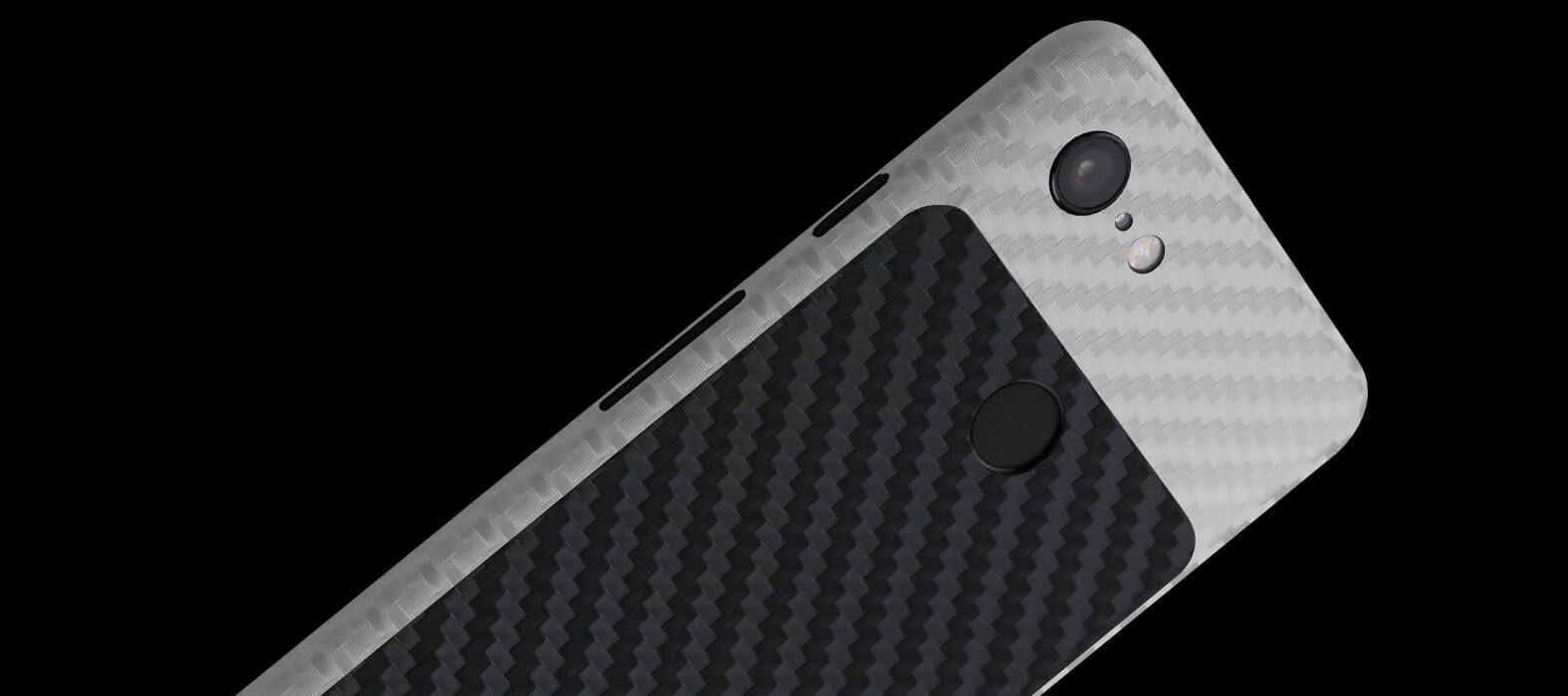 Pixel-3-XL_White-With-Black-Carbon-Fiber_Skins