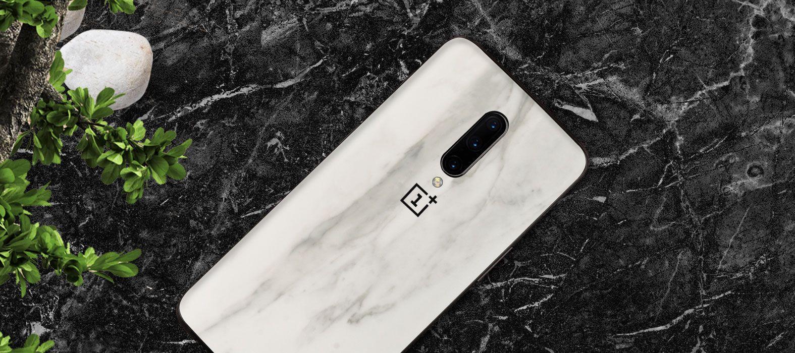 OnePlus7-Pro-White-Marble Skins