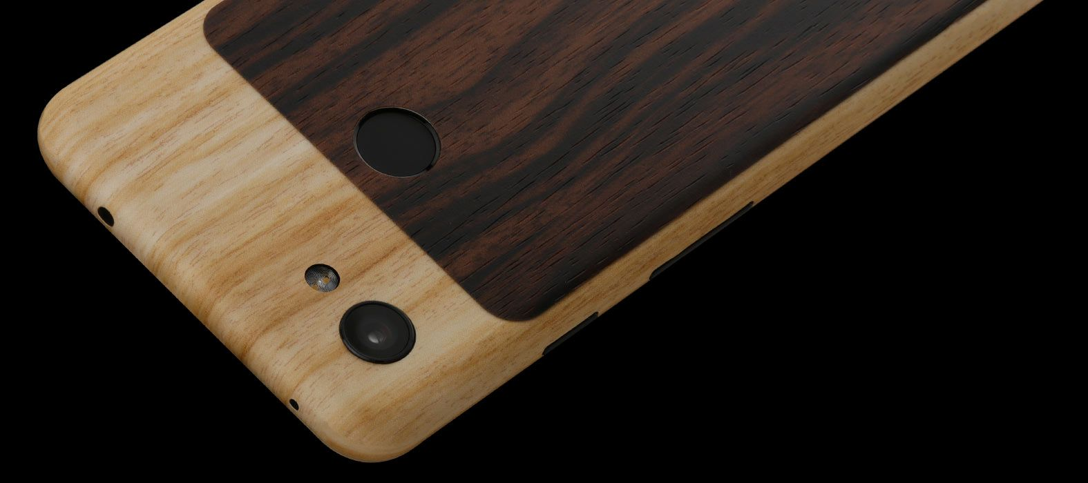 Pixel 3a Bamboo With Ebony Skins