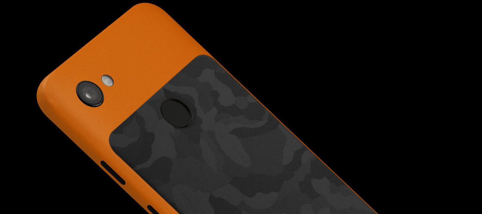 Pixel-3A_Orange-Sandstone-with-Black-Camo_Skins