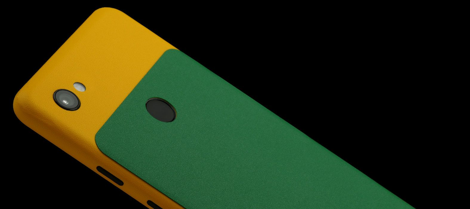 Pixel-3A_Yellow-With-Green-Sandstone_Skins