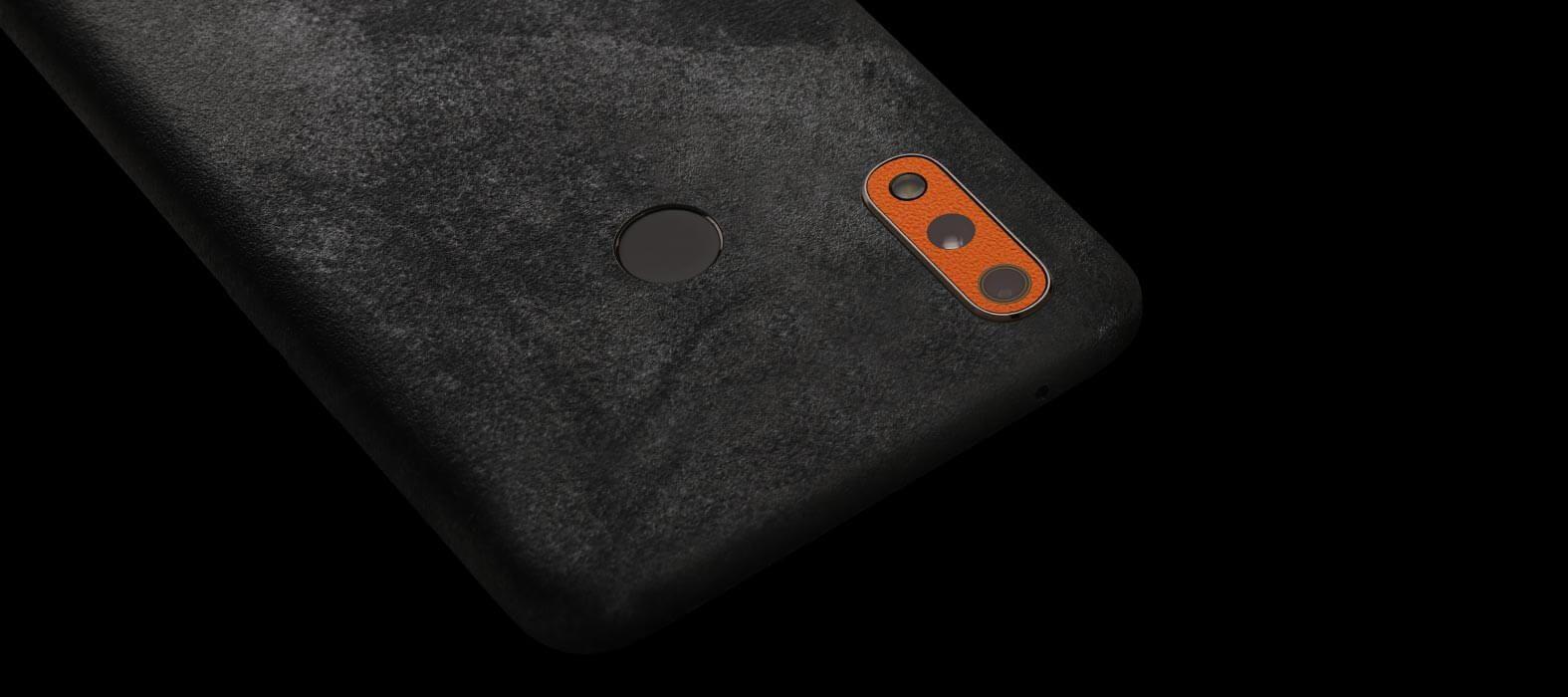 Realme 3 Pro Black Grunge Skins