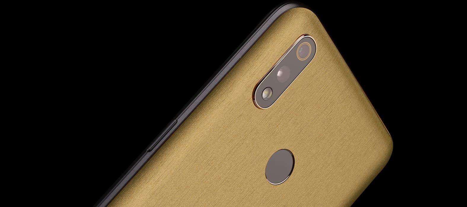 Realme 3 Pro Brushed Gold Skins