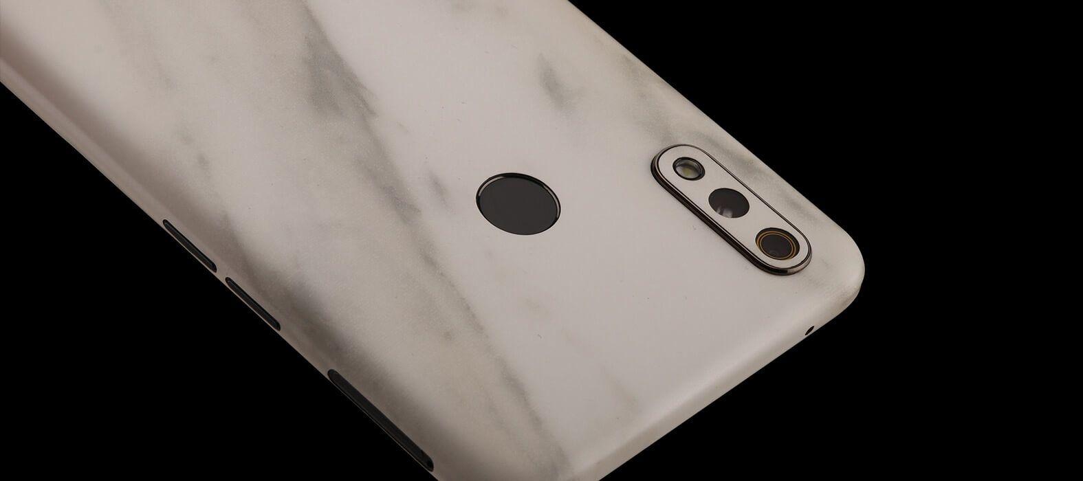 Realme 3 Pro White Marble Skins
