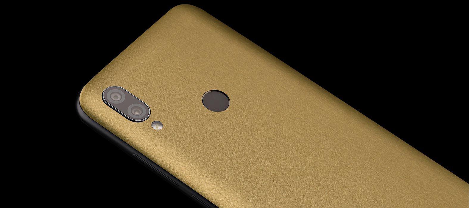 Redmi 7 Brushed Gold Skins
