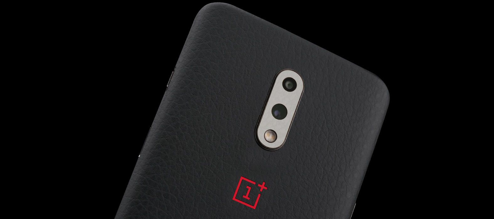 Oneplus 7 Black Leather Skins