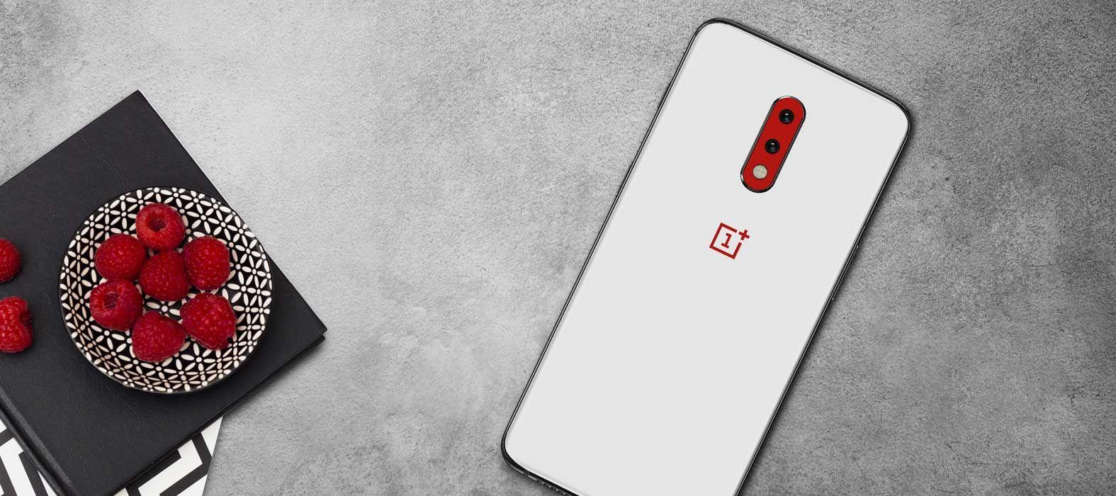 OnePlus 7 Matte White Skins