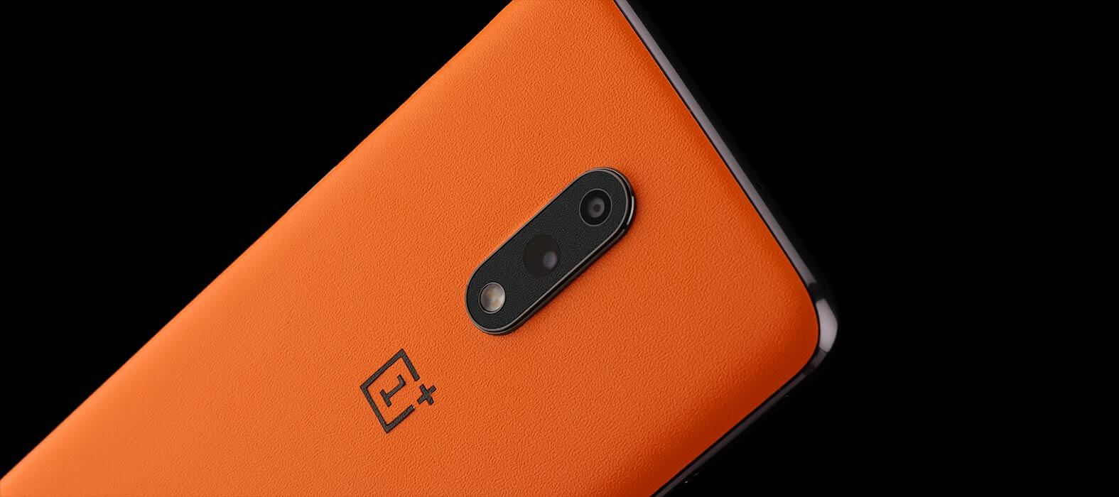 Oneplus 7 Orange Sandstone Skins