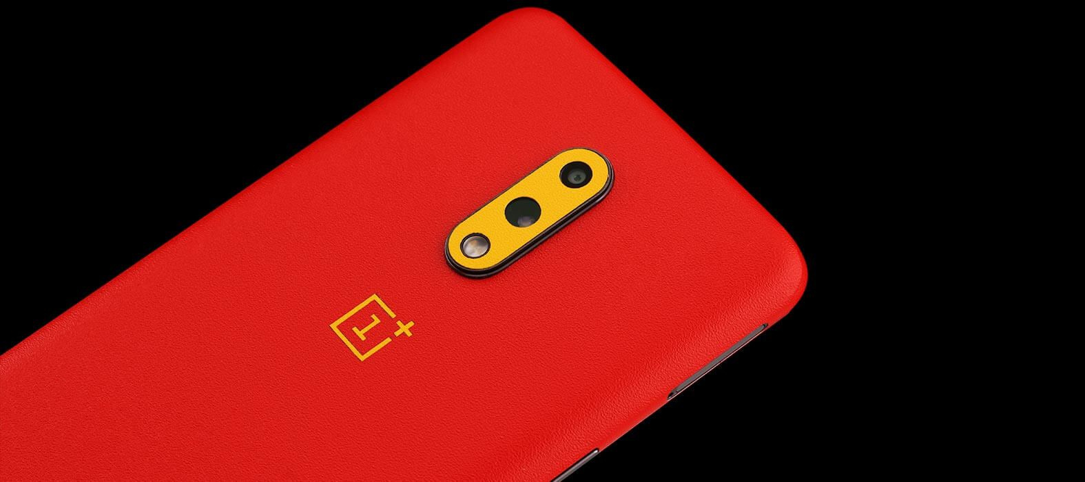 OnePlus 7 Red Sandstone Skins