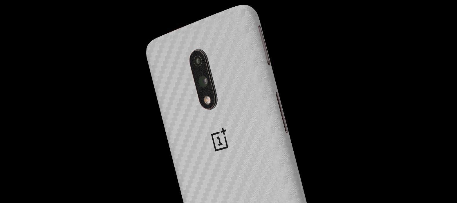OnePlus7 White Carbon Fiber Skins