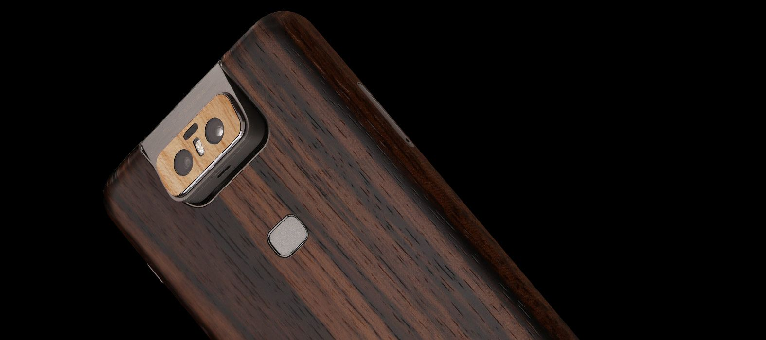 Asus Zenfone 6Z Ebony Wood Skin