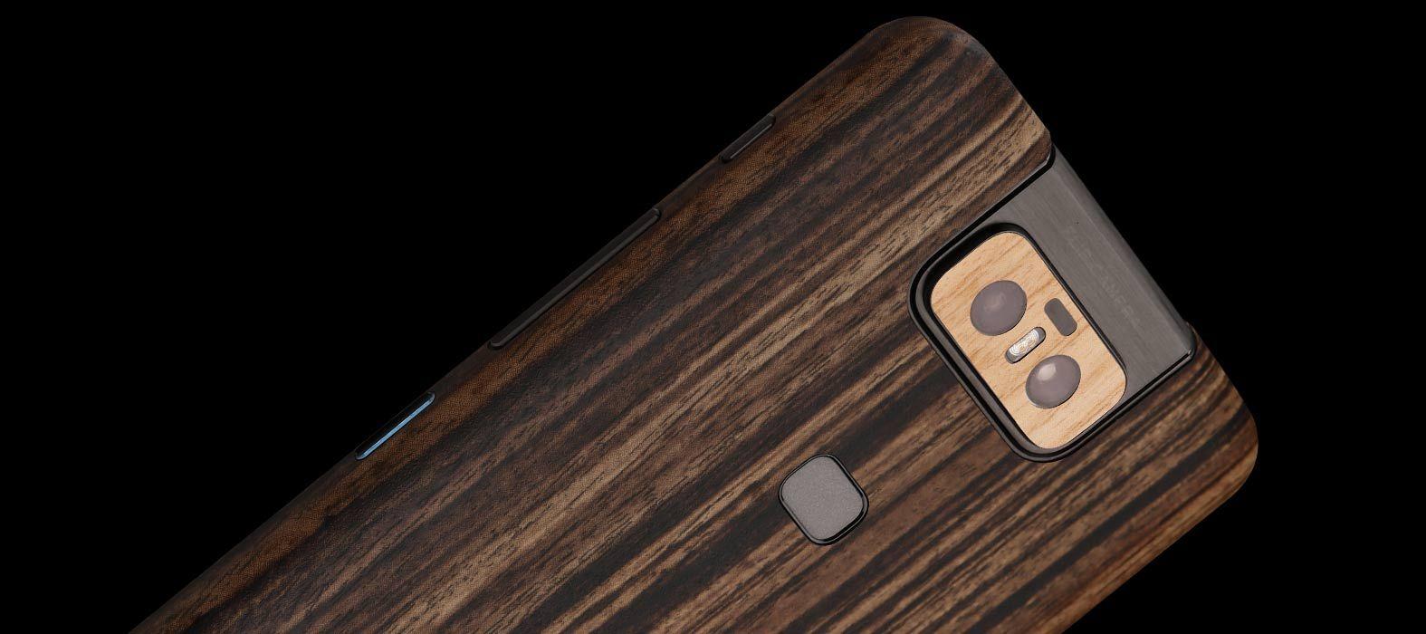 Asus Zenfone 6Z Zebra Wood Skins