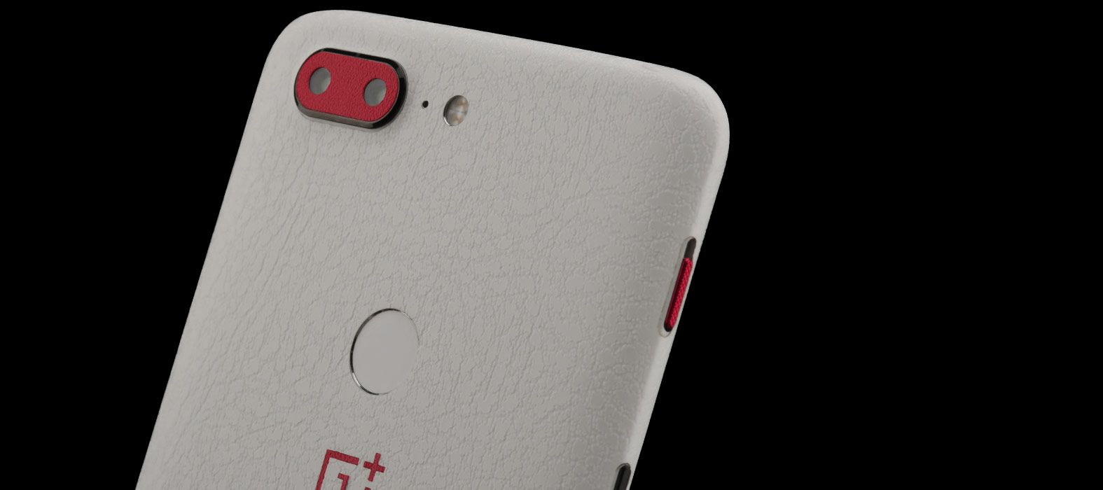 Oneplus 5T White Leather Skins