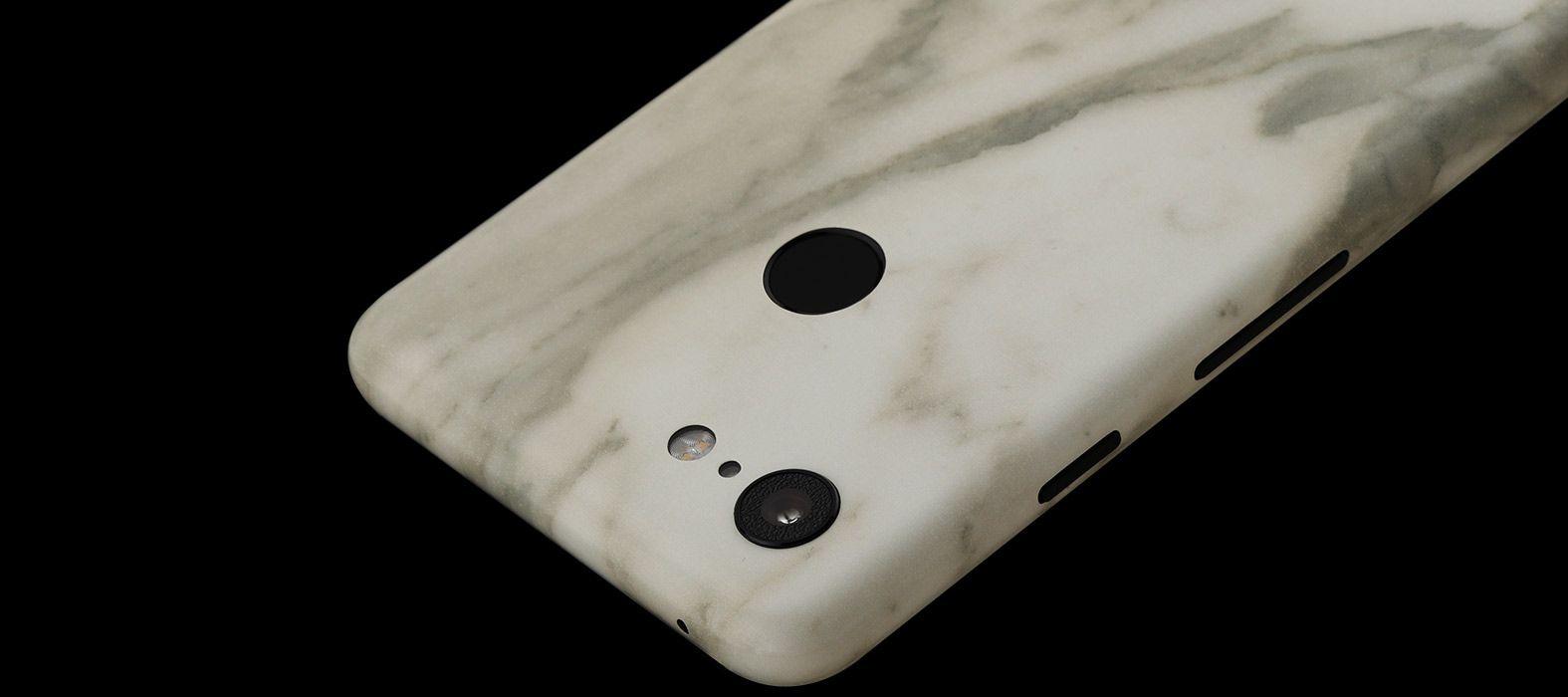 Pixel 3 XL White Marble Skins