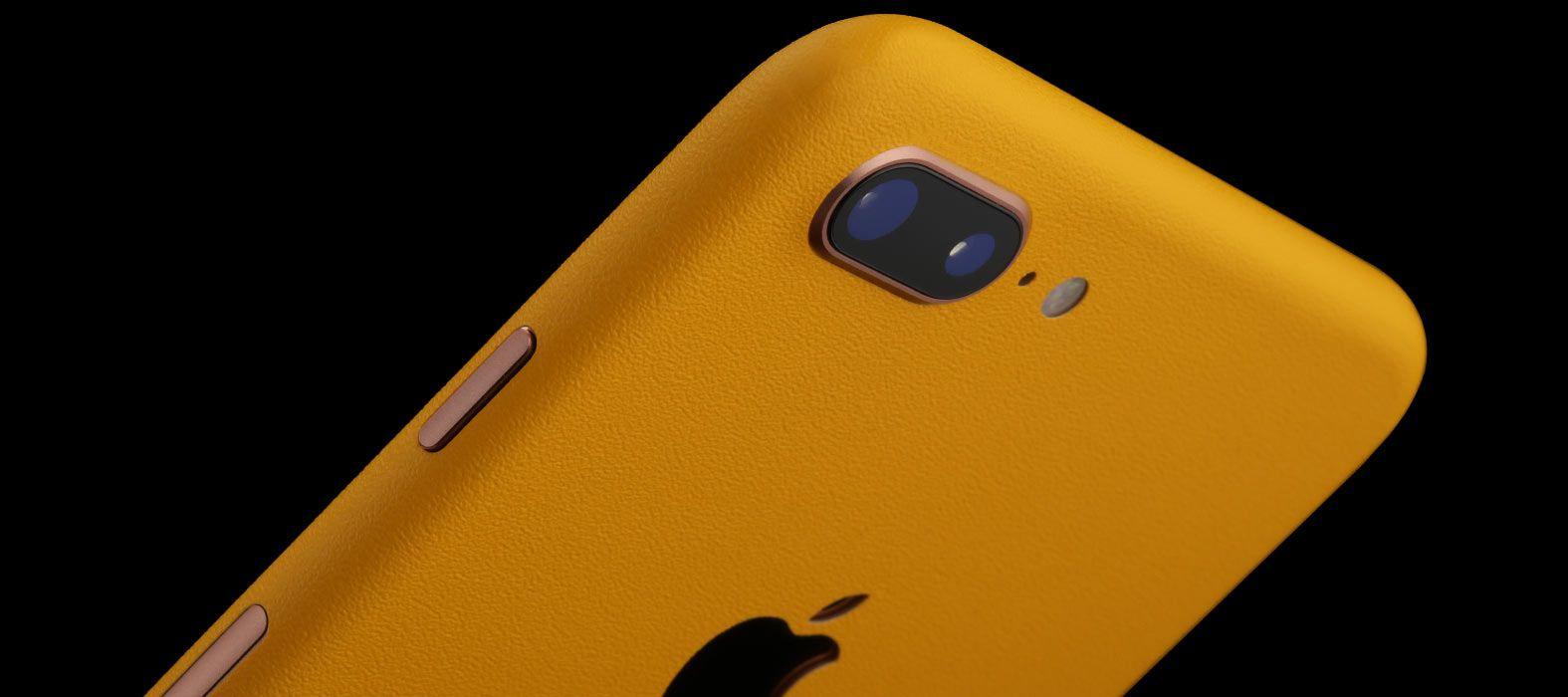 iPhone 8 Plus Sandstone Yellow Skins
