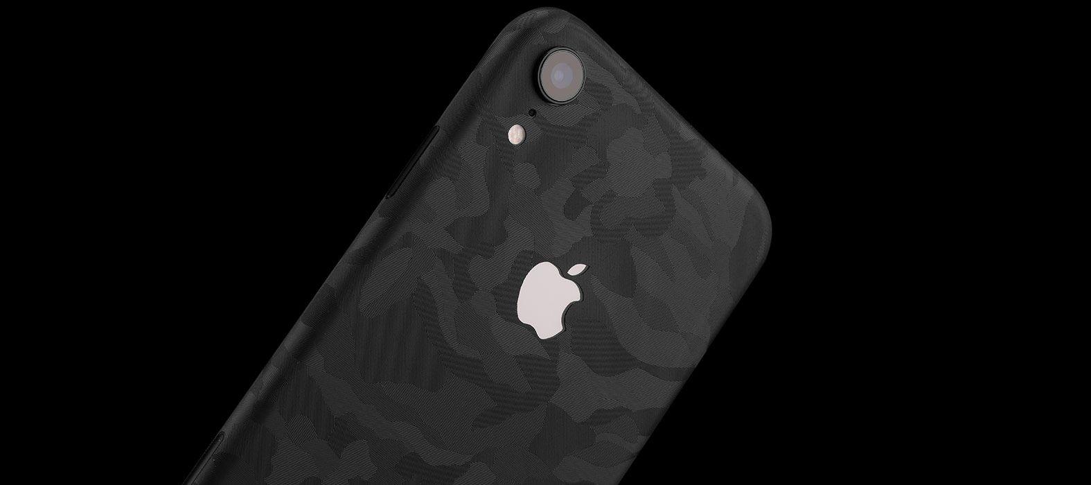 iPhone XR Black Camo Skins