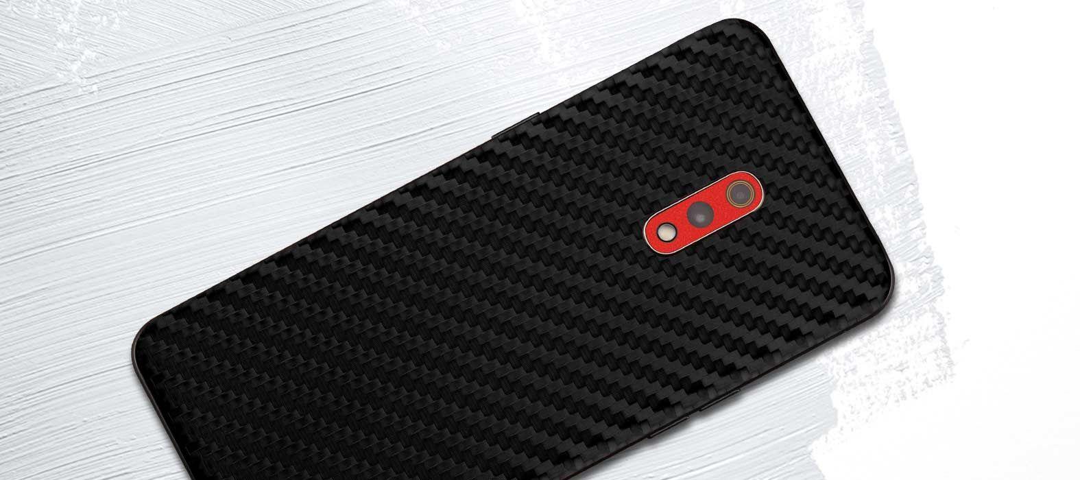 Realme X Black Carbon Fiber Skins