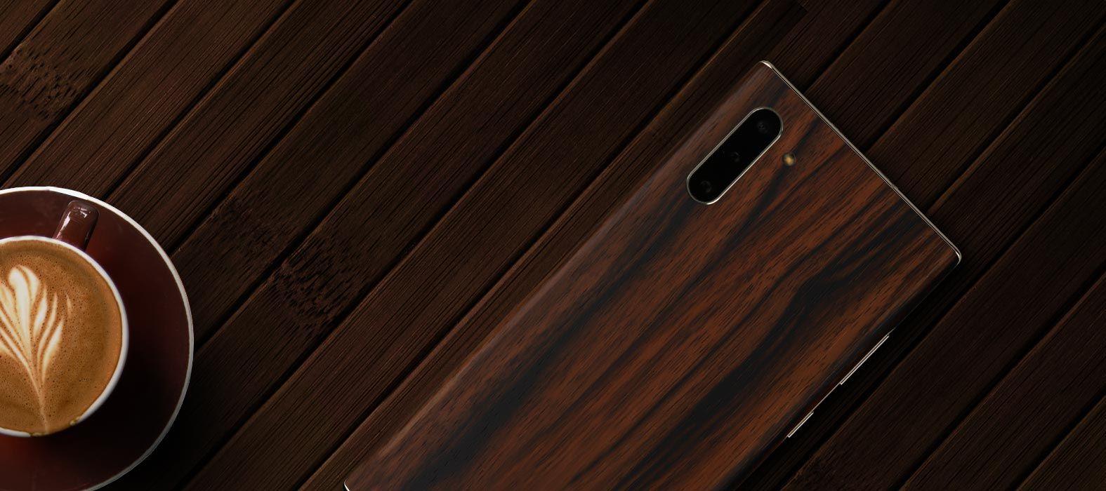 alaxy-Note-10 Ebony Wood Skins