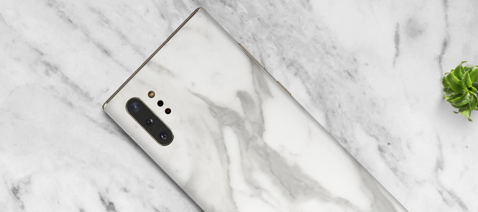 Galaxy Note 10 Plus White Marble Skins