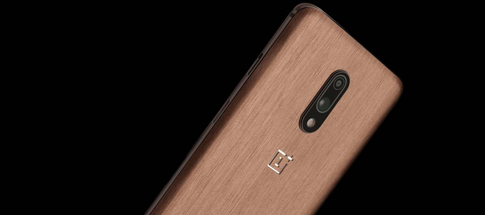 Oneplus 7 Brushed Copper Skins