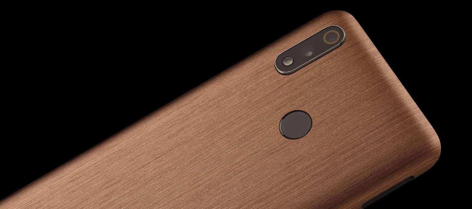 Realme 3 Pro Brushed Copper Skins
