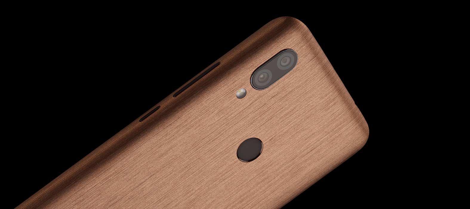 Redmi 7 Brushed Copper Skin