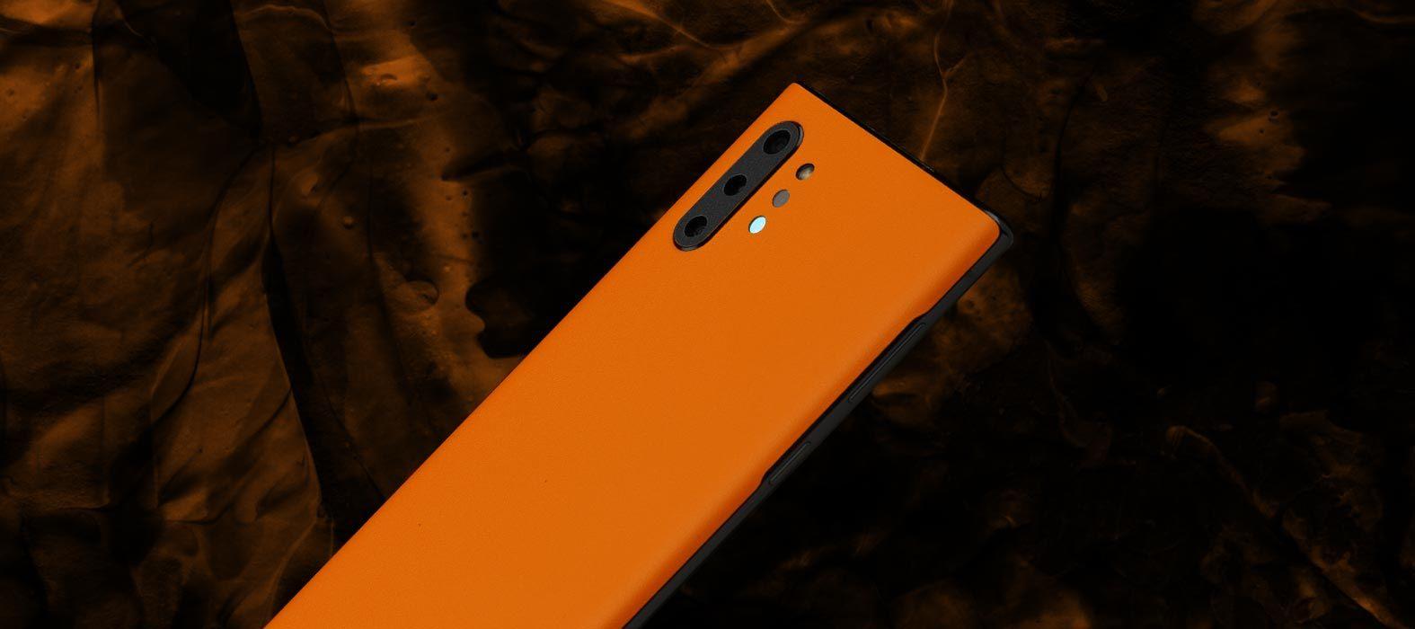Galaxy Note 10 Plus Sanstone orange skins