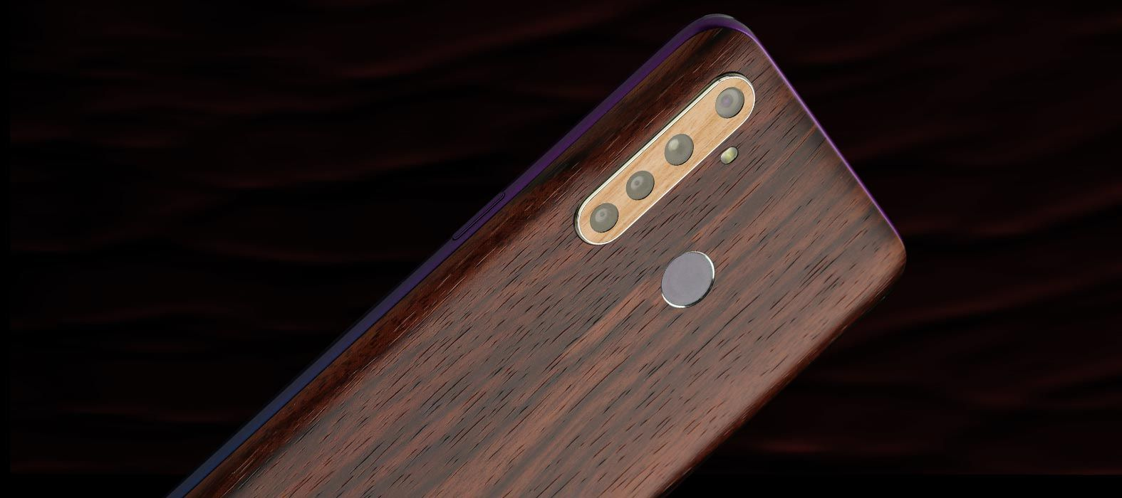 Realme 5 Pro Ebony wood skins