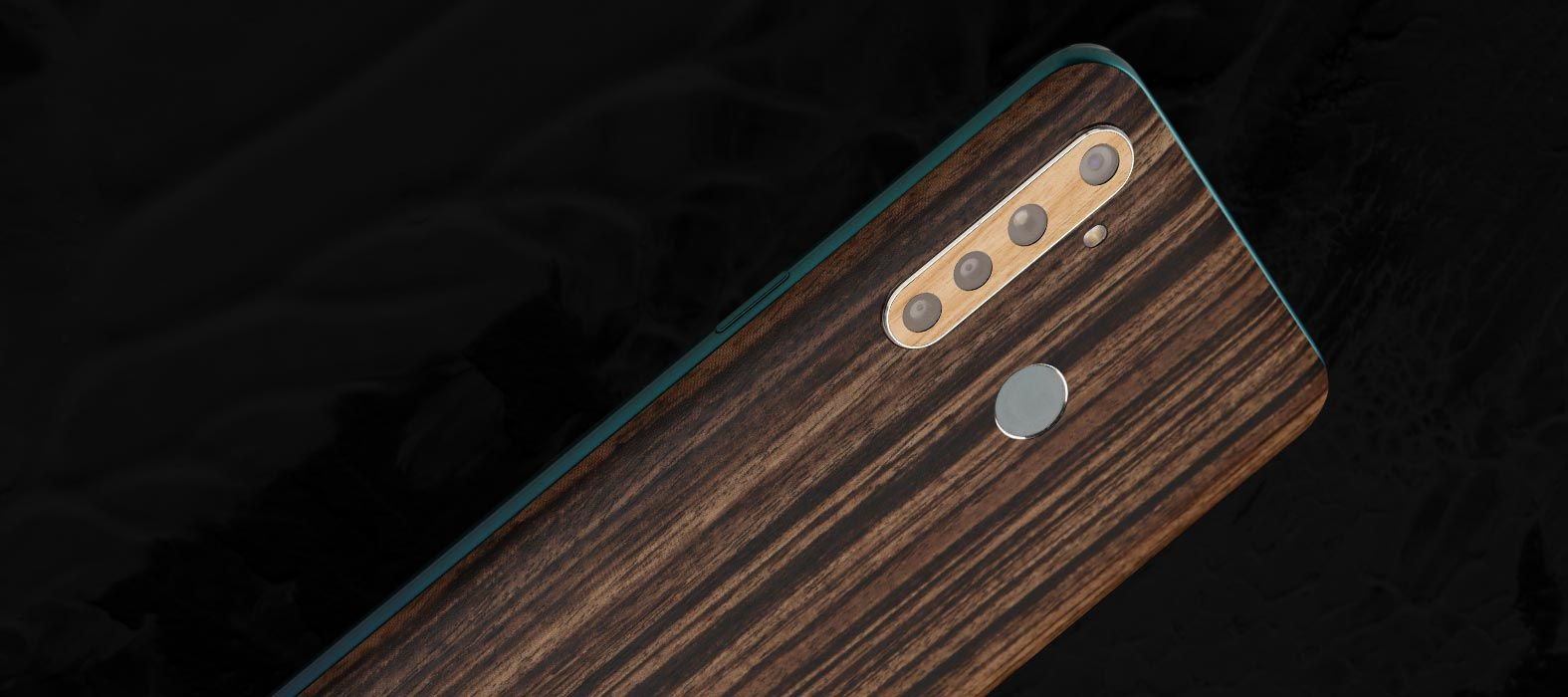 Realme 5 Pro Zebra wood skins