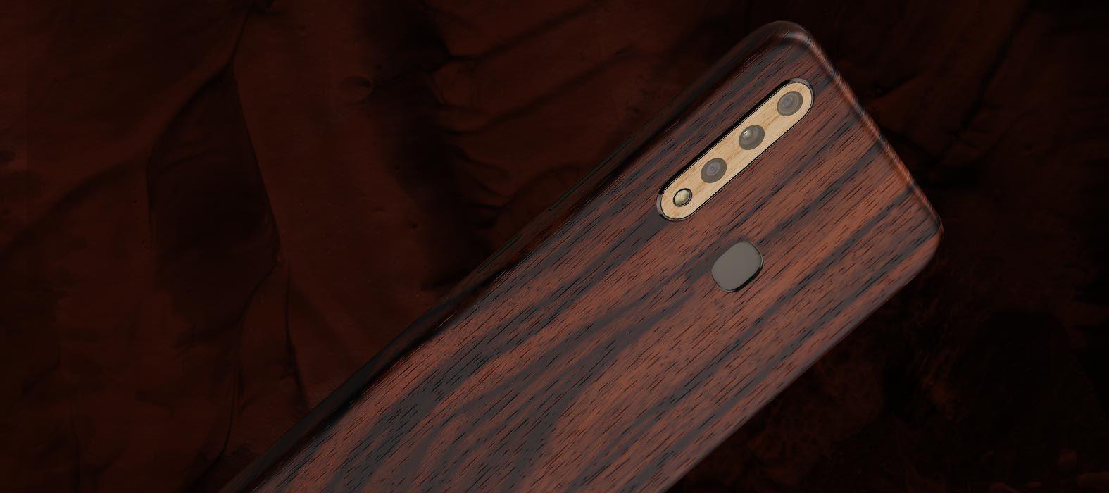 Vivo Z1 Pro Ebony wood Skins