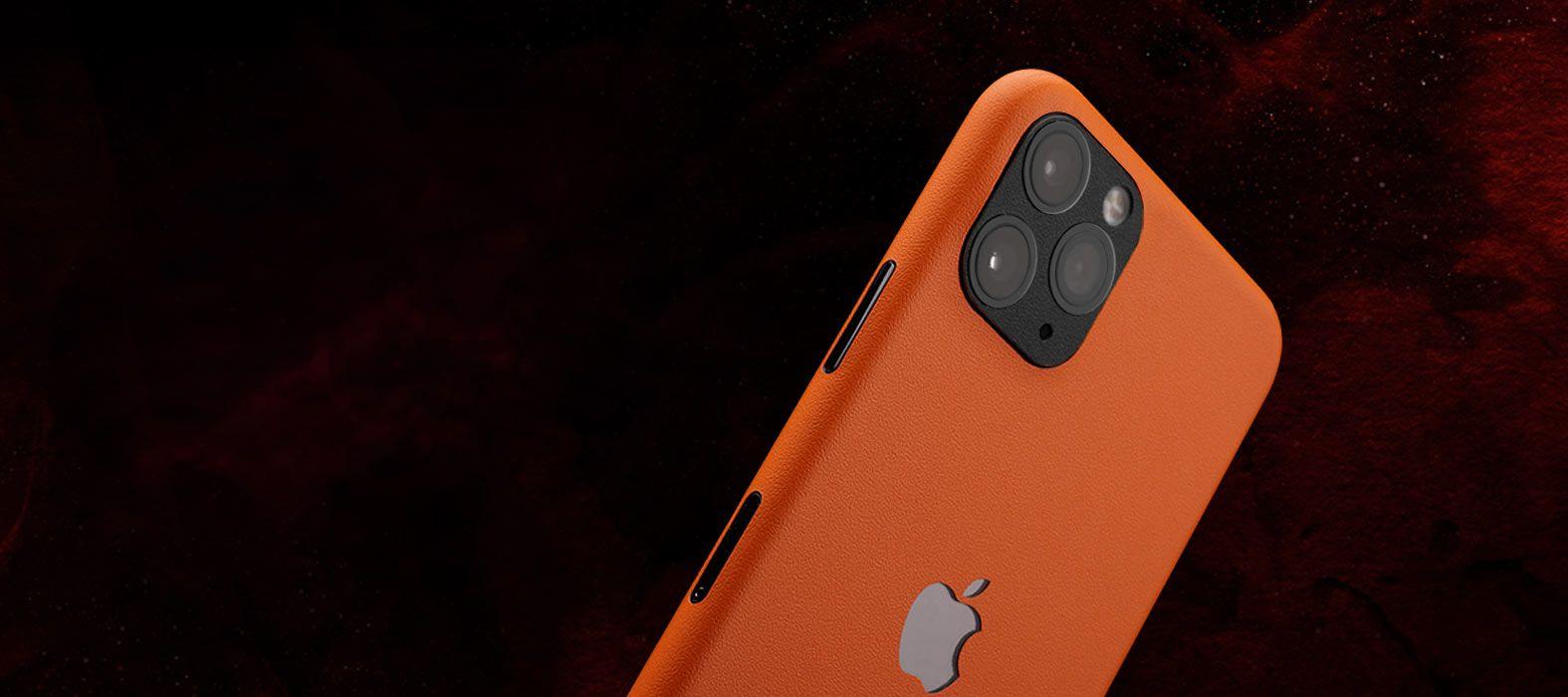 iPhone 11 Pro Sandstone orange skins