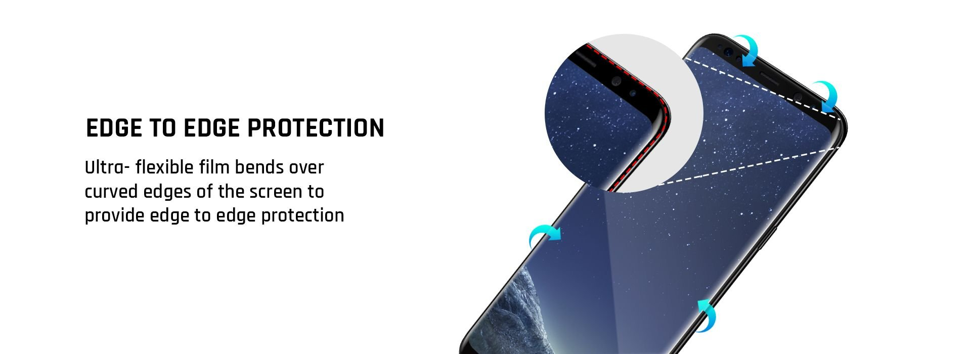ultra flexible screen protection
