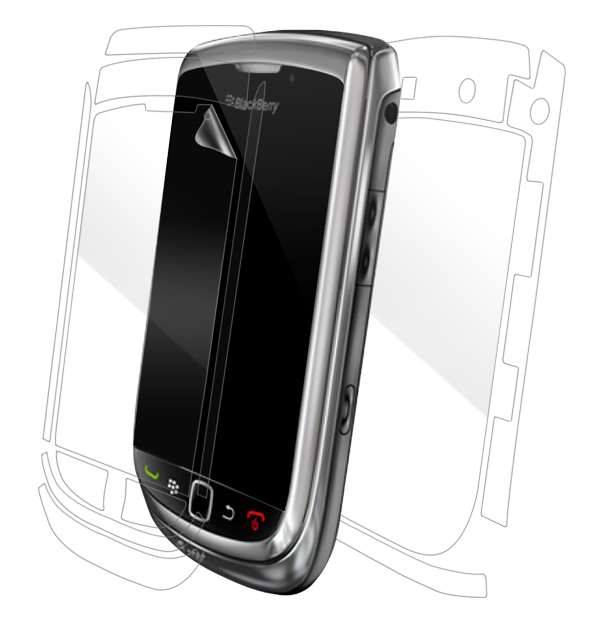 BlackBerry Torch 9800/9810 Screen Protector / Skins