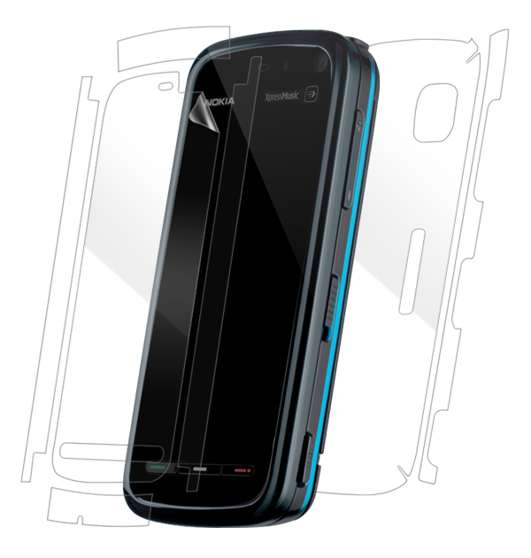 Nokia 5800 XpressMusic Screen Protector / Skins