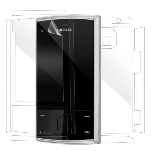 Nokia X3 Screen Protector / Skins